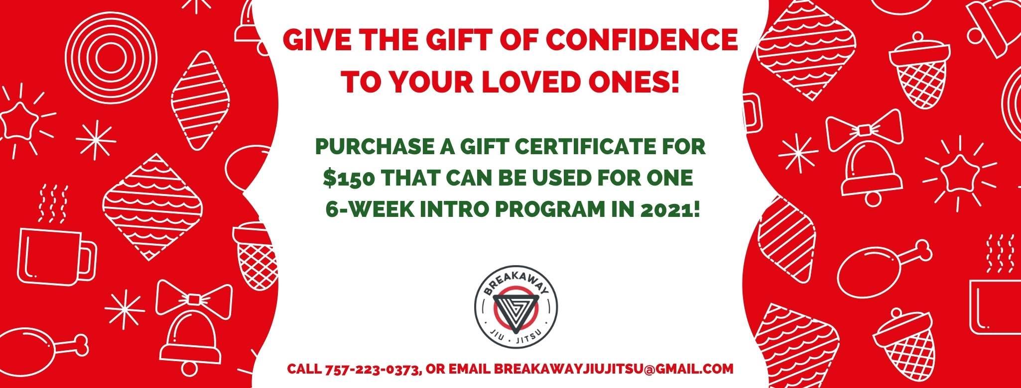 Jiu Jitsu Gift Certificate in Hampton Roads